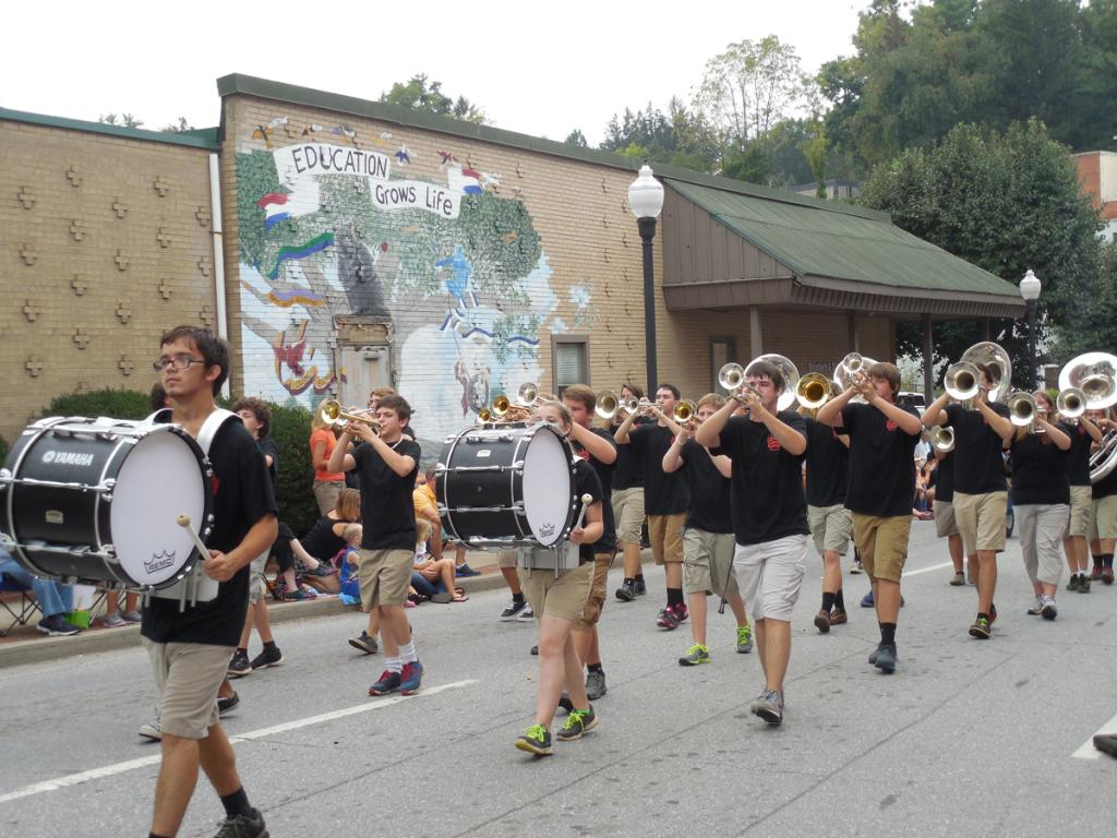 people in a marching band