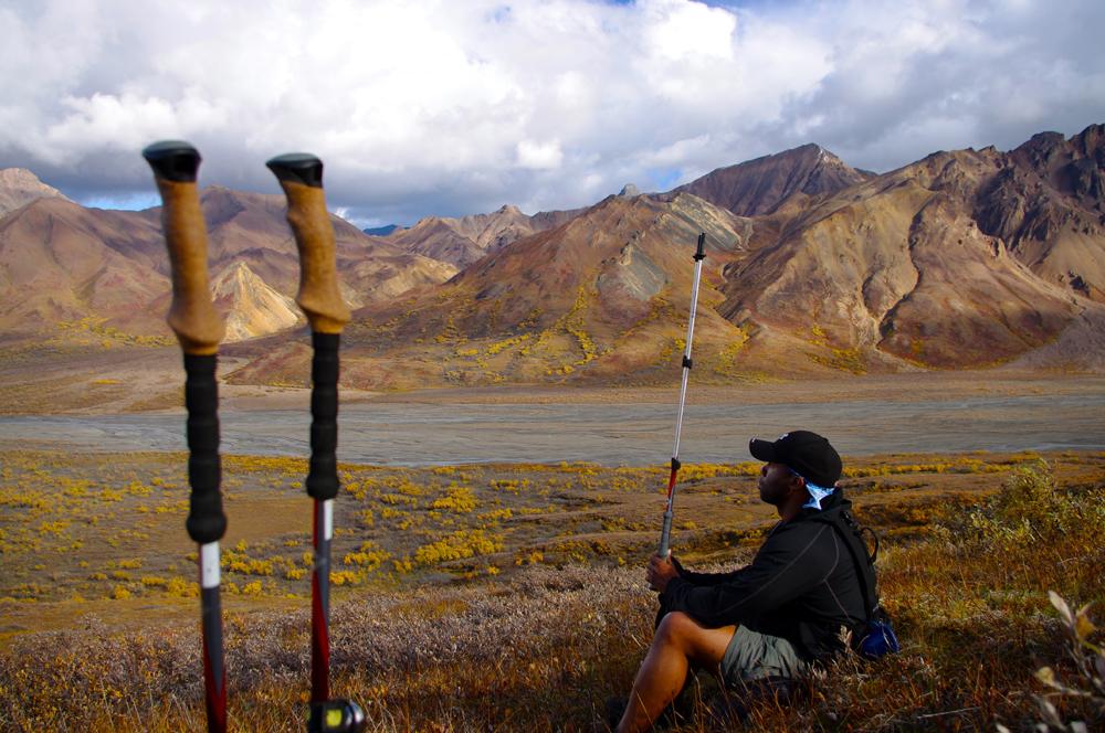 Trekker in Denali