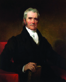 A portrait of Chief Justice John Marshall.